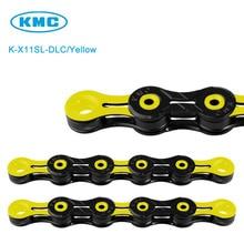 Оригинальная желтая цепь KMC X11SL DLC 11 для трекинга 116, суперлегкая цепь с алмазным покрытием 11 S KMC + недостающее звено kmc chain 11 speed chainmissing link   АлиЭкспресс