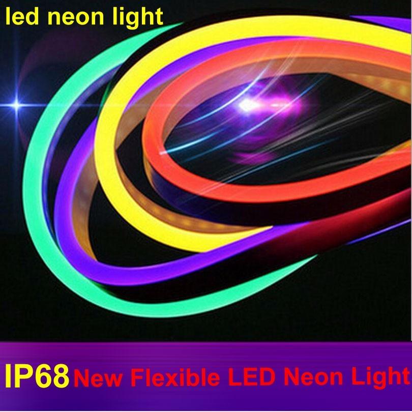 Водонепроницаемая гибкая светодиодная неоновая веревка, Водонепроницаемая IP68 светодиодная неоновая лента, Светодиодная лента, RGB декорати...