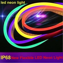 Lumière en corde à néon, étanche, Flexible, imperméable, à la bande lumineuse en bande néon en IP68, éclairage décoratif RGB de 20 M, changement de couleur