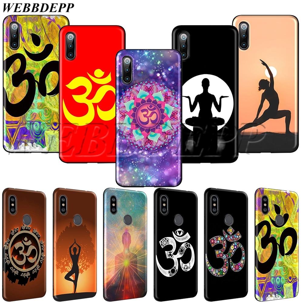 WEBBEDEPP Aum Om Yoga, funda de TPU suave para Xiaomi Redmi Note 8t 10 MAX A1 A2 5X 6X 3 6 8 9 SE F1 Lite