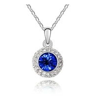 round full moon fashion jewelry birthday kate queen austrian crystal necklace dropshipping quality women giftaccessories