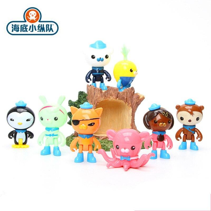 Octonautas 8/Uds. Figura de acción de juguete capitán Barnacels Kwazii gato peso pingüino shellington Dashi Inkling modelo juguetes para niños