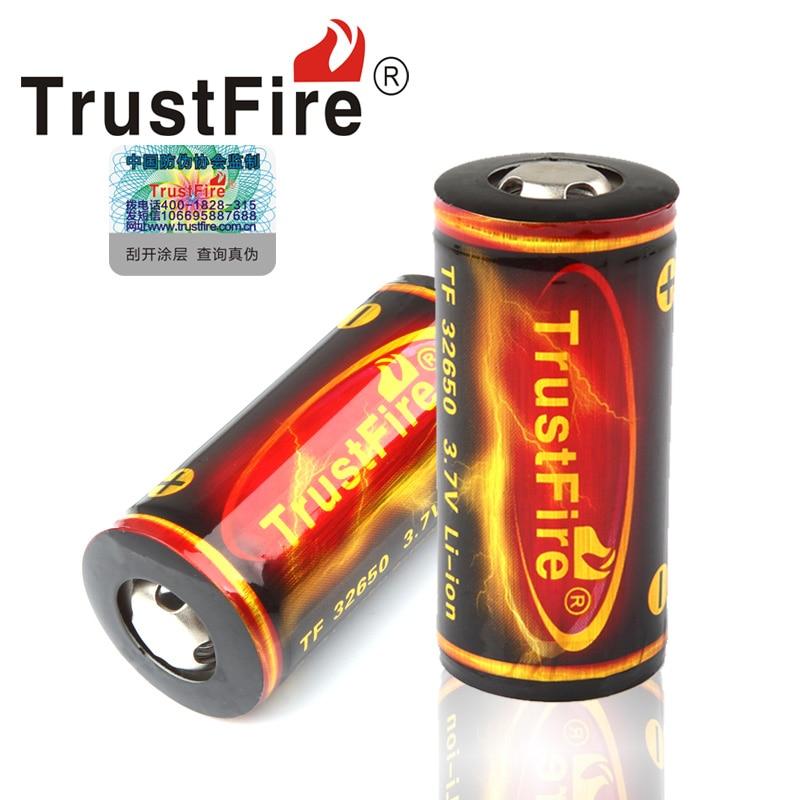 Литий-ионный аккумулятор Trust Fire большой емкости, 1 шт., 32650, 3,7 В, 6000 мАч, с защищенной печатной платой
