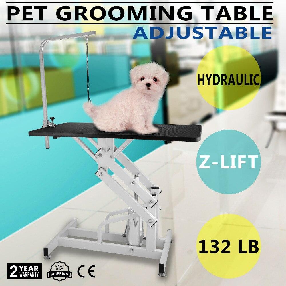 "45 ""Z-lift Hidráulico Professional Dog Cat Pet Grooming Tabela com Braço Ajustável"