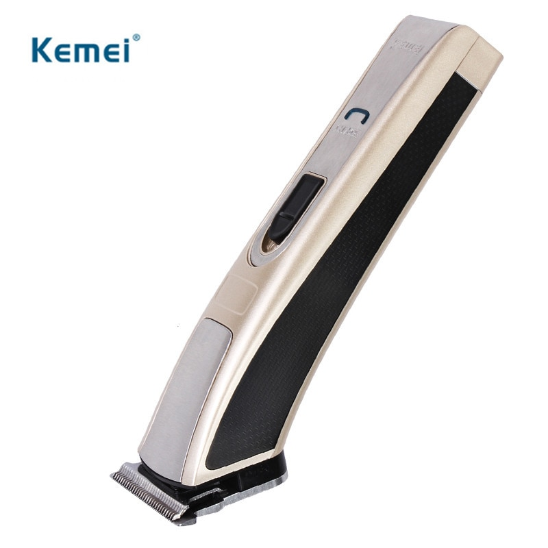 Kemei High Speed Electric Hair Clipper Trimmer Rechargeable Ergonomically Shaver Razor Cordless Adjustable Clipper 110-220v
