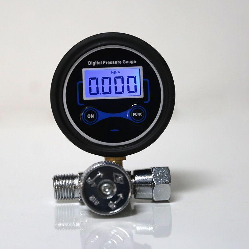 """Digital 1/4 """"200psi regulador de pressão ar calibre válvula controle para pistola"""