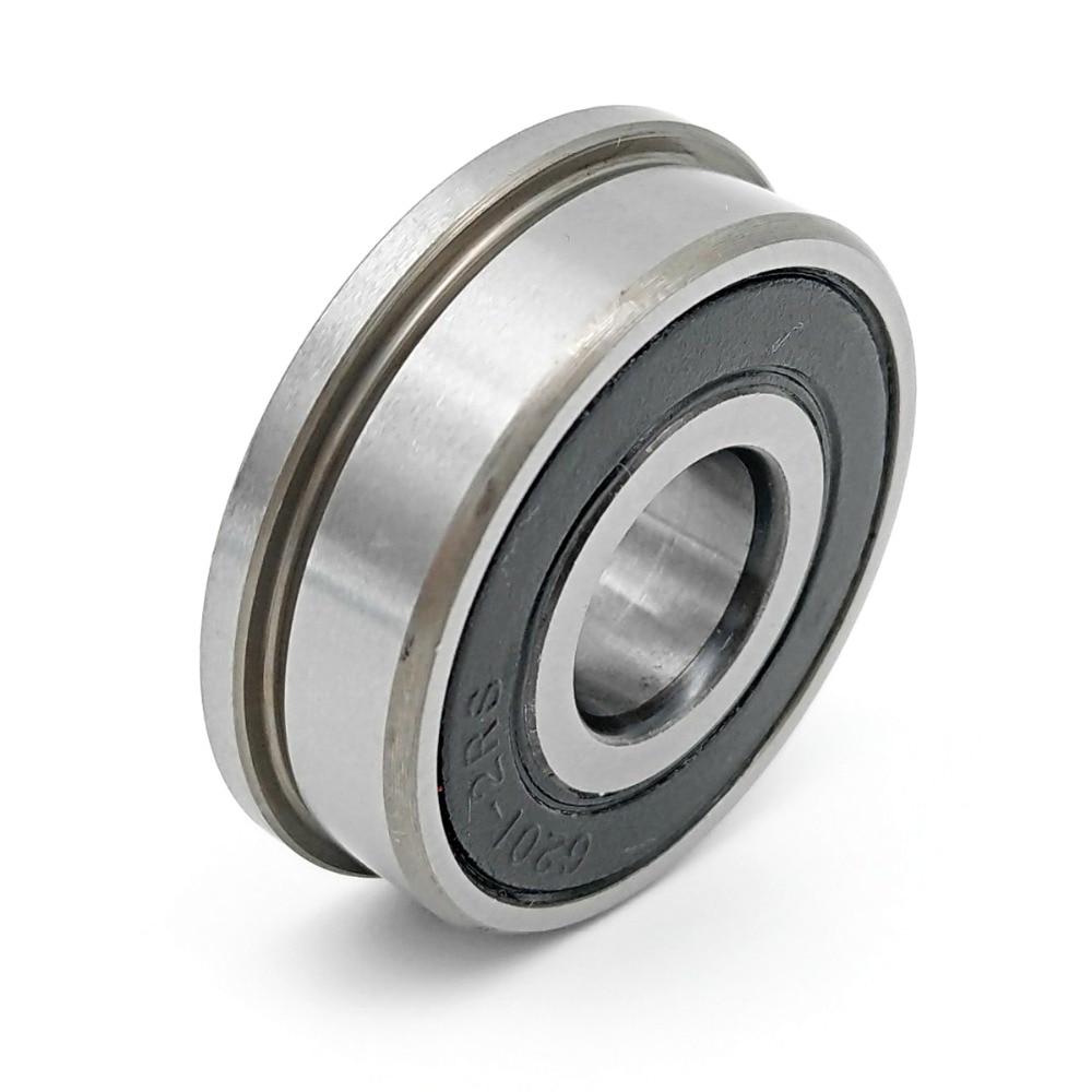 1pcs F6201 F6201RS F6201-2RS 12x32x10 MOCHU Flange Bearing Miniature Deep Groove Ball Bearing Sealed Ball Bearings
