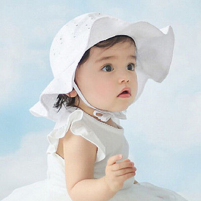 pudcoco 2017 fashion Princess Details about Toddler Infant Baby Girls Outdoor Bucket Hats Summer Sun Beach Bonnet Beanie Cap1-6Y