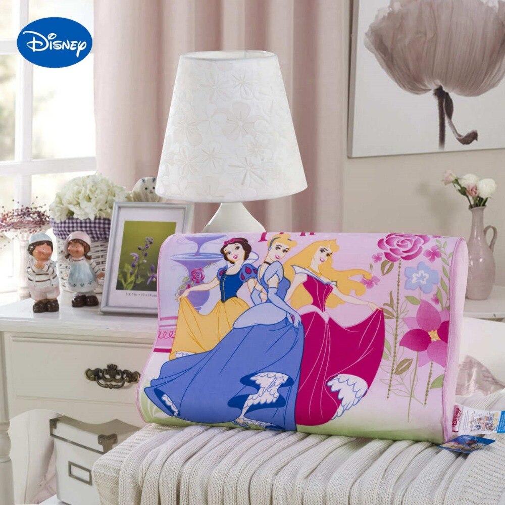 جديد ديزني الكرتون الأميرة الوسائد 40x25 سنتيمتر ديكور المنزل للأطفال سرير طفل سرير طفل الفراش انتعاش بطيء موجة رغوة النوم الوردي