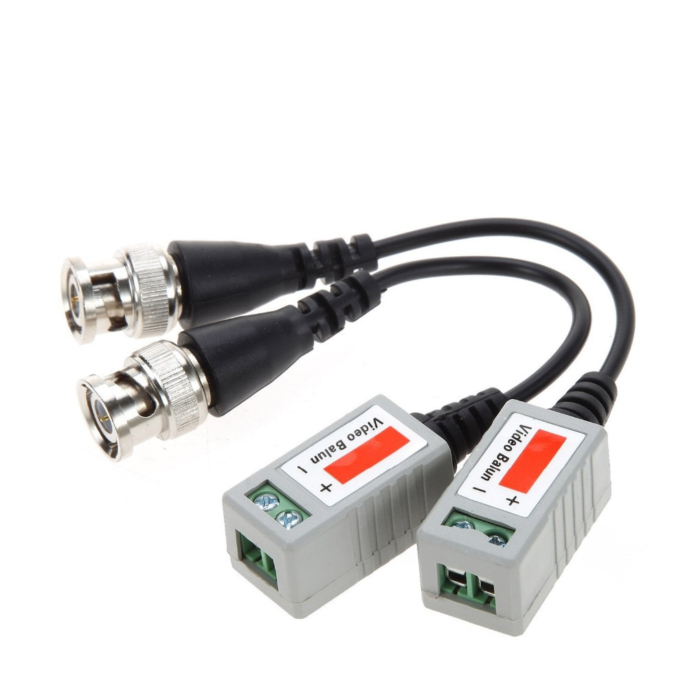10Pairs ABS Plastic CCTV Video Balun CCTV Accessories Passive Transceivers 2000ft Distance UTP Balun BNC Cable CAT5 Cable enlarge