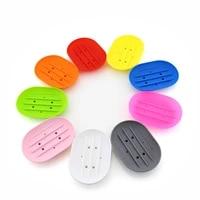 Porte-savon Flexible en Silicone  porte-savon de salle de bain  porte-voyage  nouvelle couleur bonbon  vente chaude