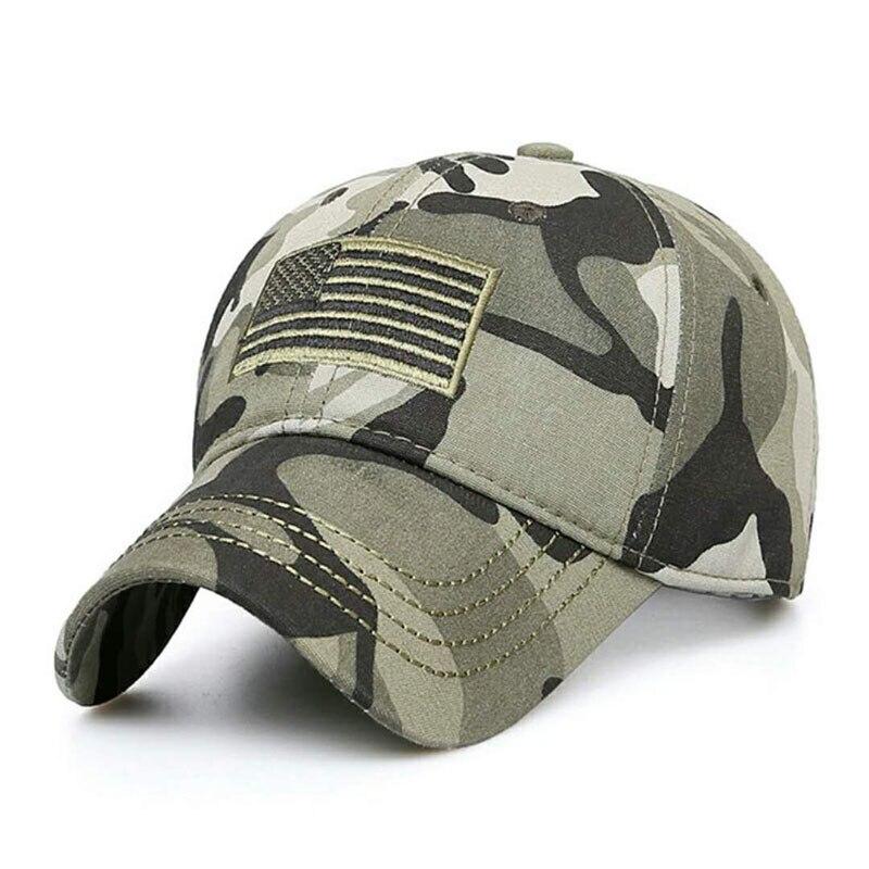 Gorra de béisbol masculina táctica Casual, gorra de ejército de verano para hombres, gorra ajustable verde Miltary Snapback camuflaje bandera de EE. UU.