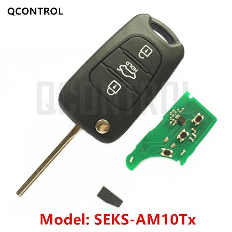 Mando a distancia QCONTROL para HYUNDAI SEKS-AM10Tx CE0678 433-EU-TP SCK Control de alarma para vehículo