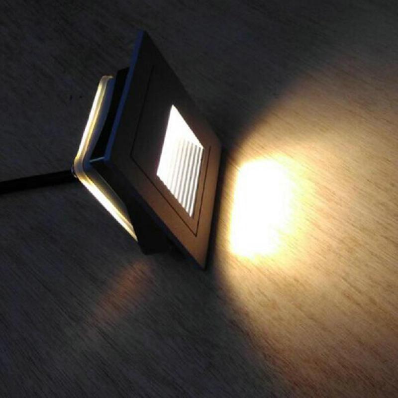 Luz LED empotrada IP65 para pie escaleras LED para jardín interior exterior lámpara de pared del dormitorio ac85v-265v o DC12V