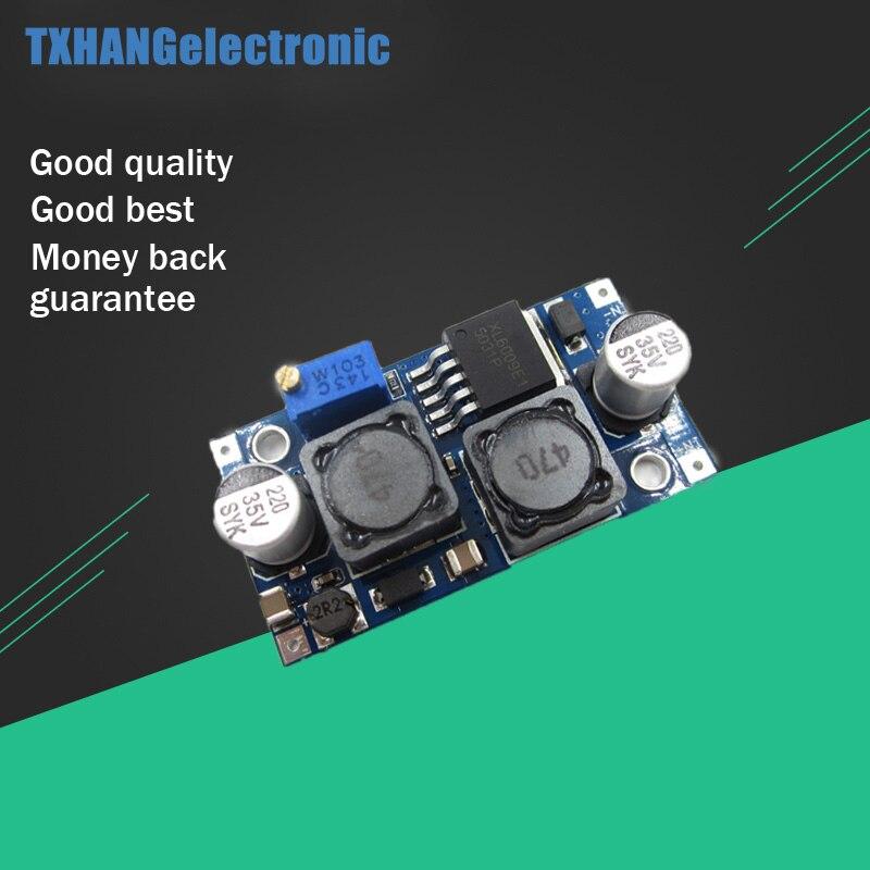 5 piezas DC Boost Buck paso ajustable abajo arriba convertidor XL6009 módulo convertidor de voltaje Solar regulador de potencia