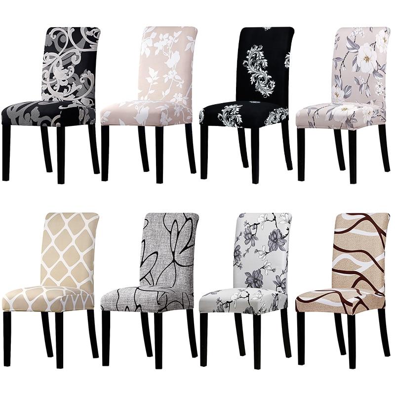 Funda elástica estampada para sillas, fundas grandes elásticas para sillas, fundas de silla banquete en restaurante hotel decoración del hogar