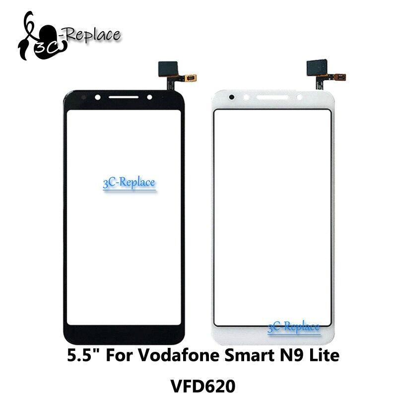 Novedad, negro/blanco, 5,5 pulgadas, para Vodafone Smart N9 Lite, VFD-620 VFD620 VFD 620, lente de cristal digitalizador Digitalizador de pantalla táctil