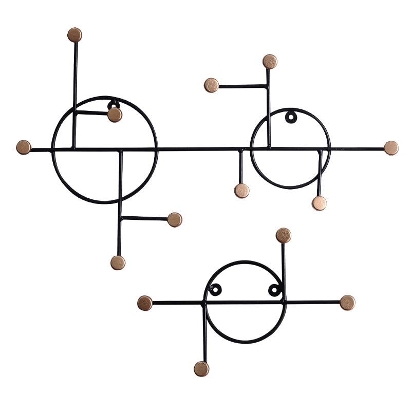 European Minimalism Wall Key Holder Wall Hook Creative Multi-Functional Hoom Decoration Accessories Coat Hook Rack