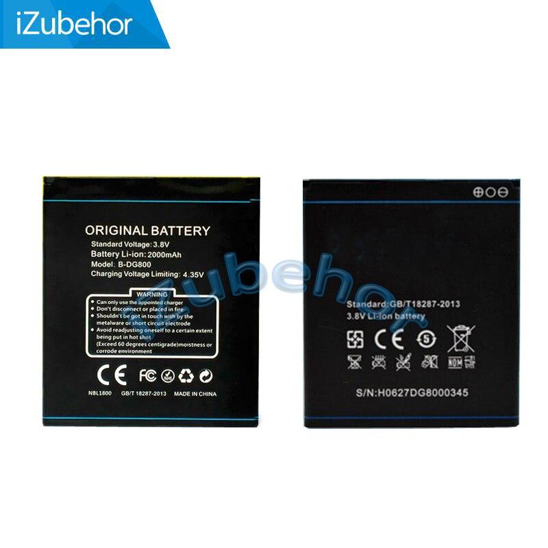 100% warranty 2000mah Li-ion Battery Pack For Doogee DG800 B-DG800 by free shipping