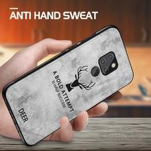 Coque pour Huawei Mate 20 Lite coque tissu cerf housse pour Honor 8X Max 8C 10 9 Mate 10 P10 P20 Lite Nova 3 3i coque P Smart Plus