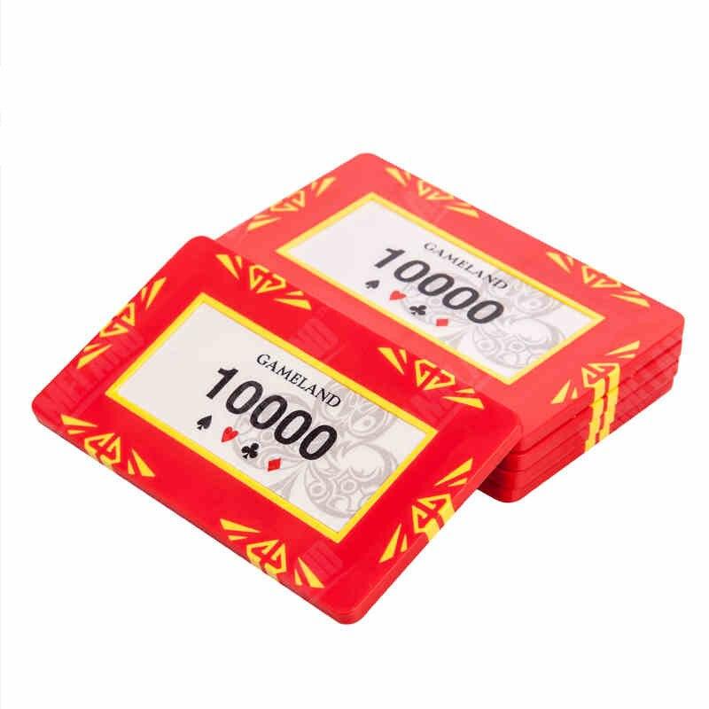 Casino monedas fichas, póker tarjetas Chips ProfessionalTexas Holdem banquero fichas de póker de lujo Gambing Poker partes 2 unids/set