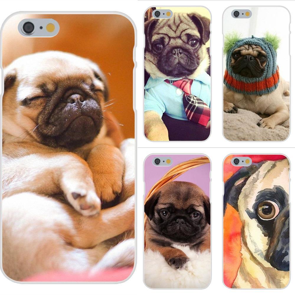 Para Moto G G2 G3 G4 G5 G6 G7 HTC 530, 626, 628, 630, 816, 820 A9 M7 M8 M9 M10 E9 U11 piel fina funda de móvil Pc Pug cachorro de perro