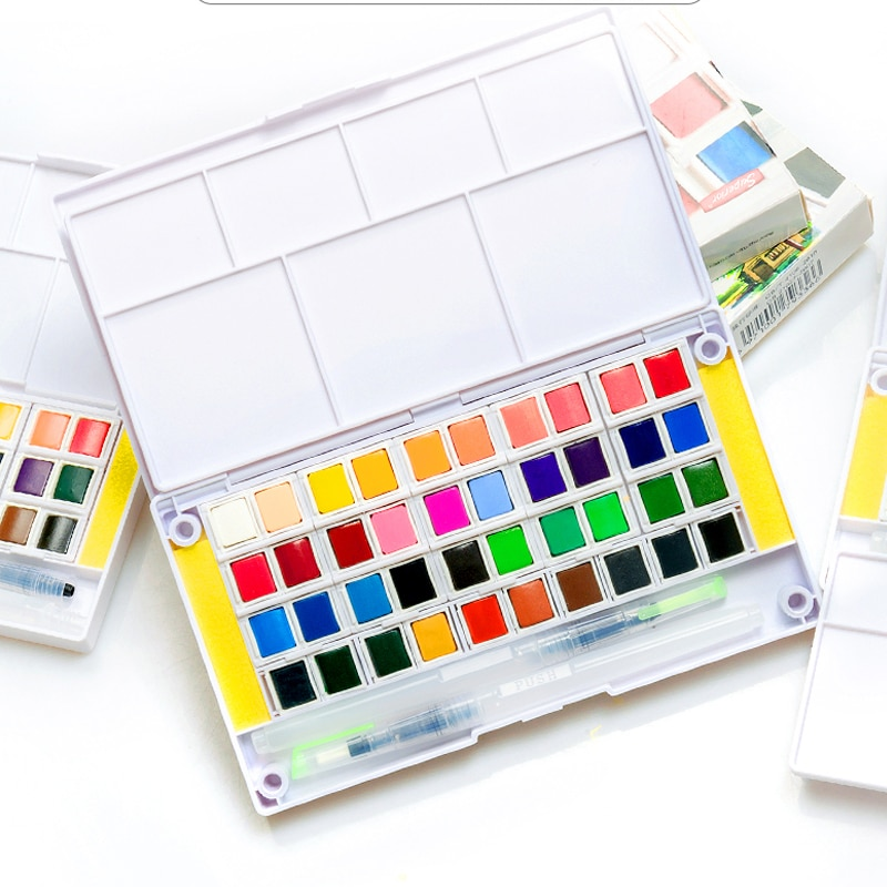 paul rubens 12 24 48 watercolor paint set with metal case solid artist water color painting pigment for drawing art supplies Superior 12/18/24/30/36/40/48Color Solid Watercolor Paint Set for Artist Drawing Painting Watercolor Pigment Art Supplies