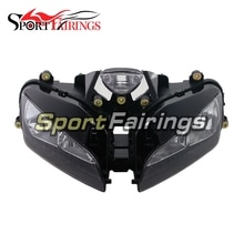 Conjunto de faros delanteros para Honda CBR600 CBR600RR F5 año 03-06 2003 2004 2005 2006 lente transparente para motocicleta deportiva