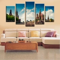 high quality 5 pieces wall art prints canvas oil paintings modern city picture print wall pictures unframed home decal