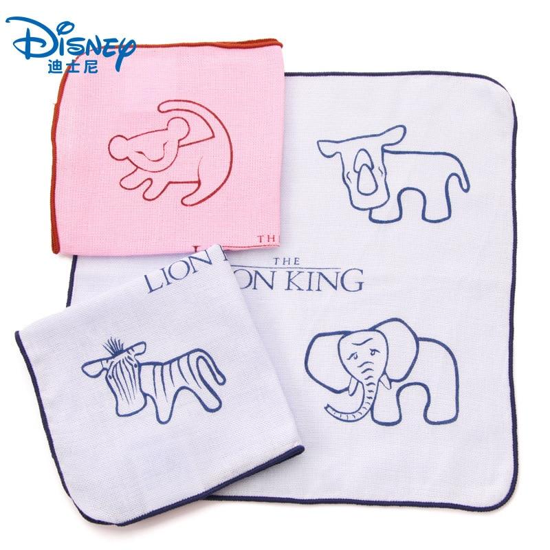 Disney El Rey León de dibujos animados de gasa de algodón toalla cuadrada niño adulto niño niña suave absorción de agua cara toalla pañuelo 25x25cm