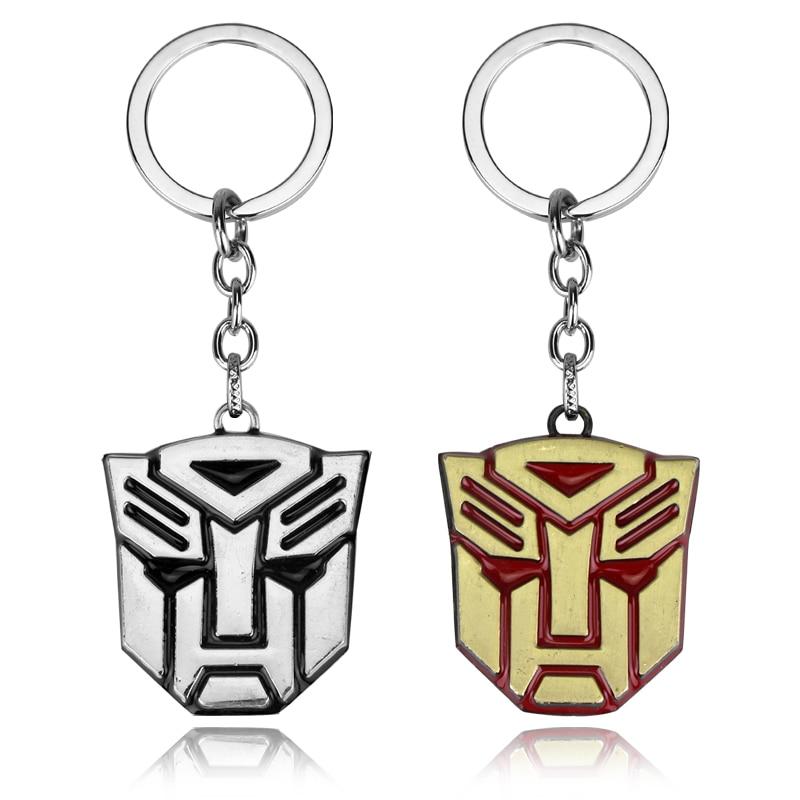 MQCHUN Fashion Movie Transformation Robot Bumblebee Mask Keychain High Quality Hornet Mask Metal Keyring For Men Women Gift