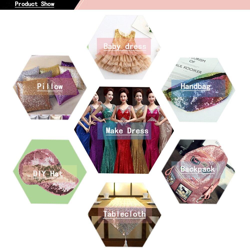 Купить с кэшбэком Sequin Ribbon Handmade Colorful Ribbon DIY Hair Accessories 75mm Ribbon Headwear Materials Wedding Party Decoration 2 yards