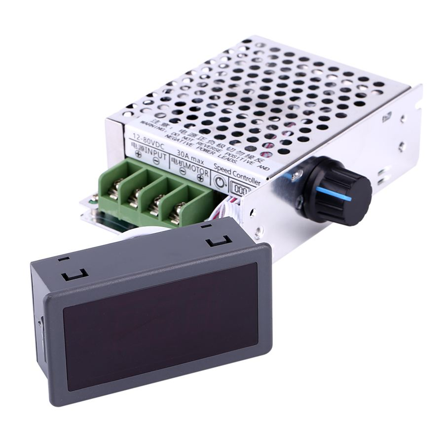 Vbestlife CCM6DS-D 12 v 24 v 36 48 v 60 v 80 v dc 30a pwm display lcd digital variável controlador de velocidade do motor dc com caso