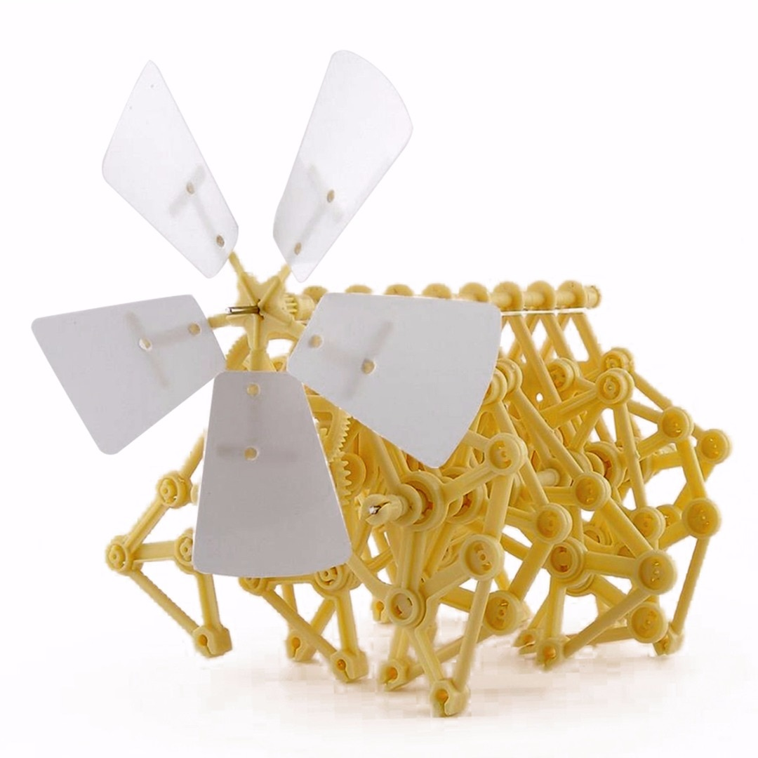 Criatura quebra-cabeça vento alimentado diy walker strandbeest montagem diy modelo kits de construção brinquedo brinquedos educativos ambientais presente