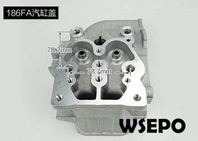Top Qualidade! Cabeça de cilindro para 186FA 9HP Motor Diesel Refrigerado A Ar 04 tempos, 5.5KW Gerador Diesel Peças
