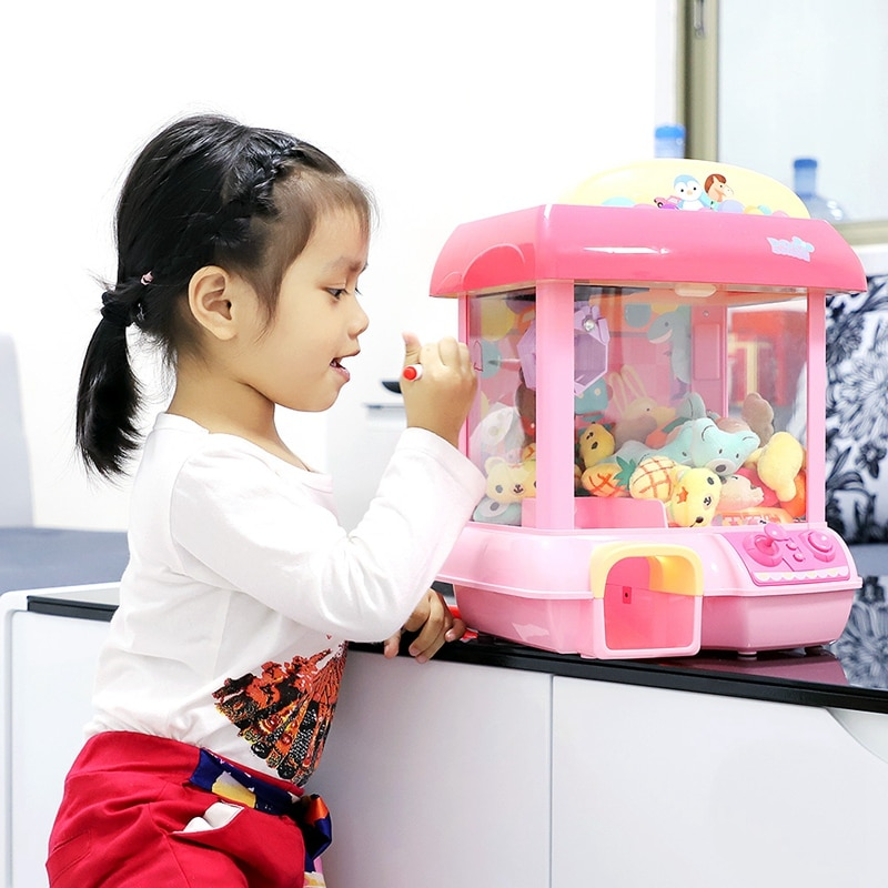 Casa unicornio muñeca 12 Mini Mickey música muñeca recargable electrónica captura DIY para muñecas máquina de peluche Mnimals bebé juguetes Lol muñecas