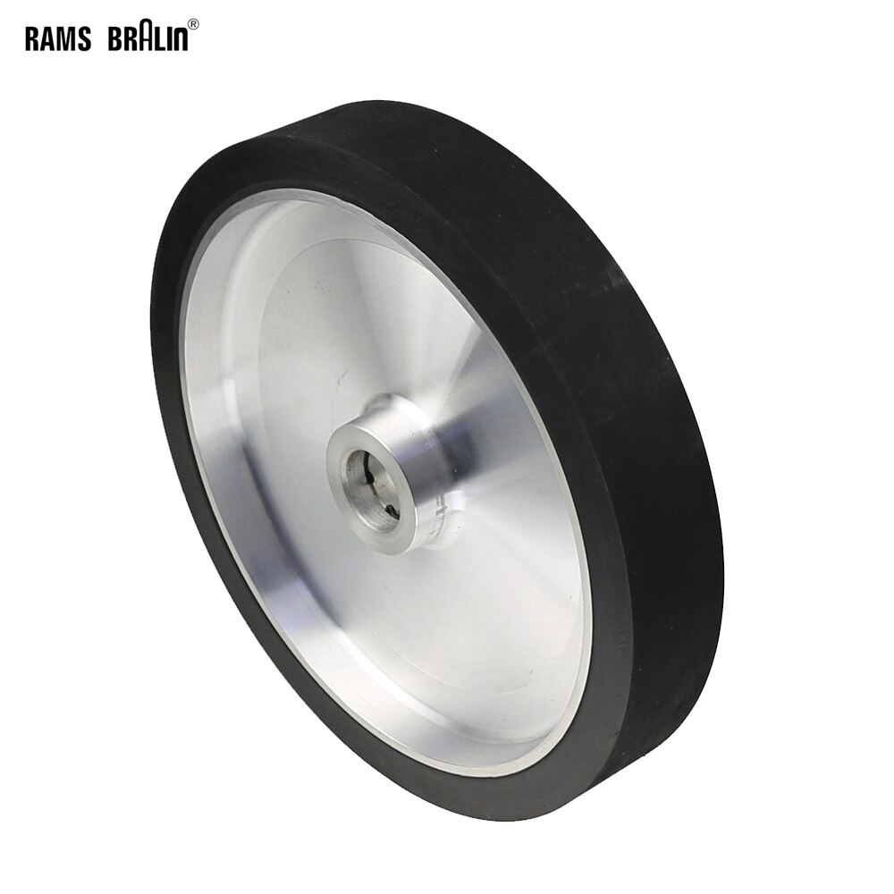 300*50mm מוצק חגורת מטחנת קשר גלגל דינמי מאוזן גומי ליטוש גלגל שוחקים מלטש חגורת סט