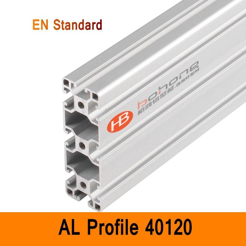 40120 Perfil De Aluminio EN Soportes Estándar Industrial BRICOLAJE Extrusión AL Estilo CNC 3D DIY Impresora Banco de Trabajo de Construcción CE ISO