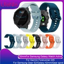 Correa de 20mm para Samsung Galaxy ver activo/equipo S2/Galaxy 42mm smart Watch reemplazo pulsera para Garmin Forerunner 245 banda