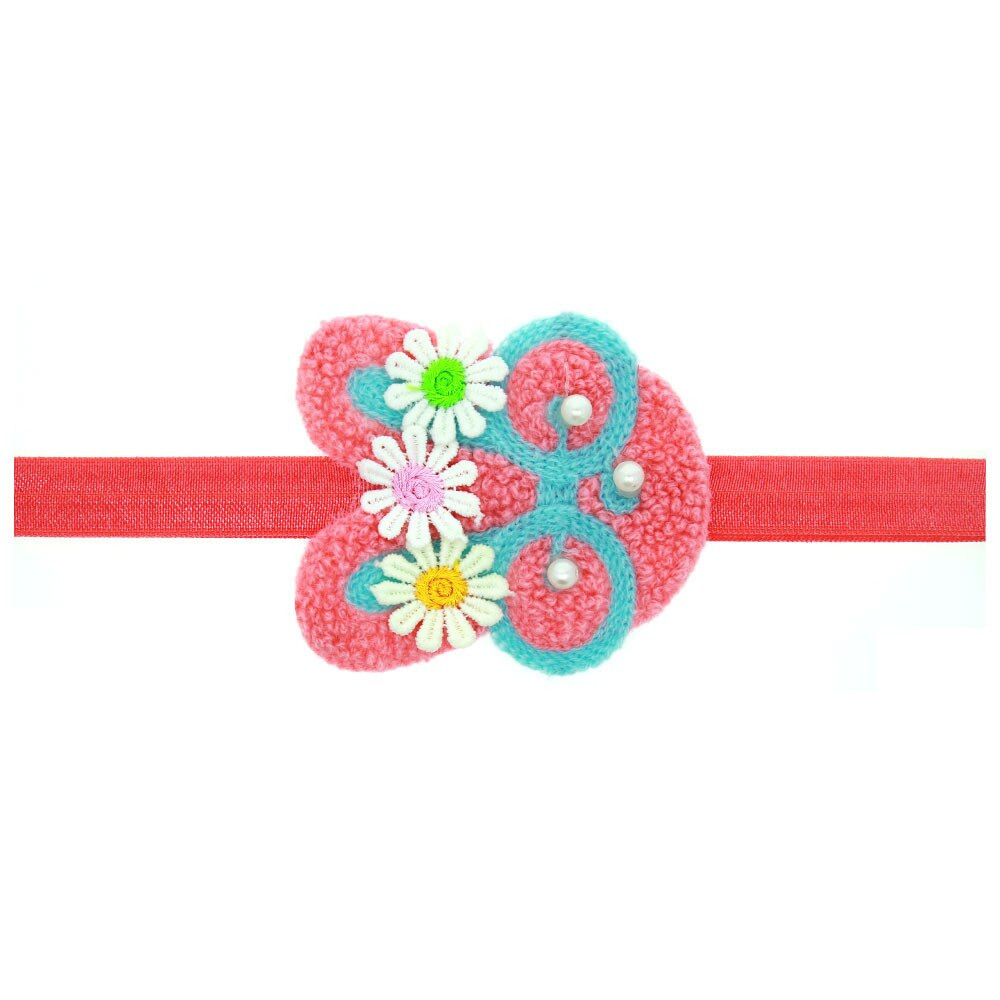 10 pçs moda bonito floral coelho macio hairbands crochê flor coelho headbands páscoa acessórios de cabelo princesa