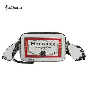 FuAhaLu Осенняя новая широкополосная сумка через плечо индивидуальная дикая сумка-мессенджер маленькая сумка-конверт в гонконгском стиле мал...