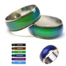 Changement de couleur anneaux humeur émotion sentiment température anneaux pour femmes hommes Couples anneaux ton Fine bijoux livraison directe