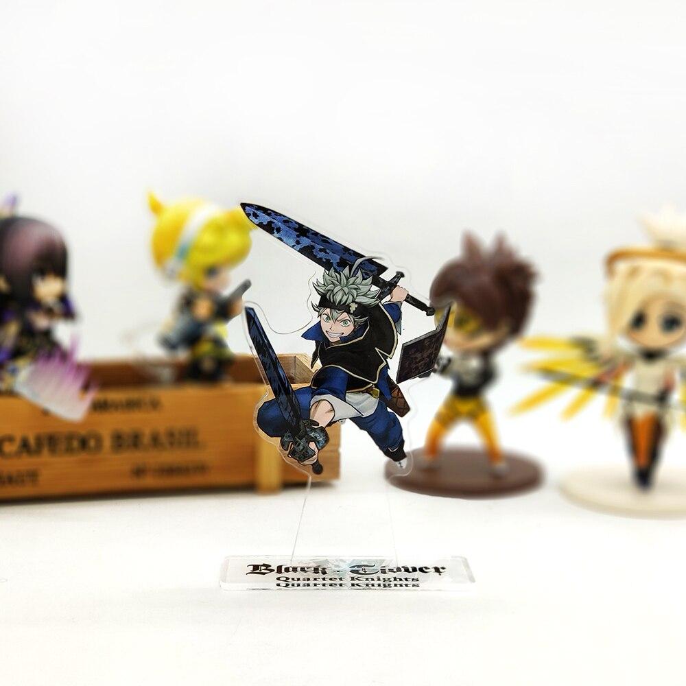 Love Thank You Black Clover Asta 5 Leaf, Волшебная фигурка на акриловой подставке, модель, двухсторонняя тарелка, держатель, топ, аниме, японский