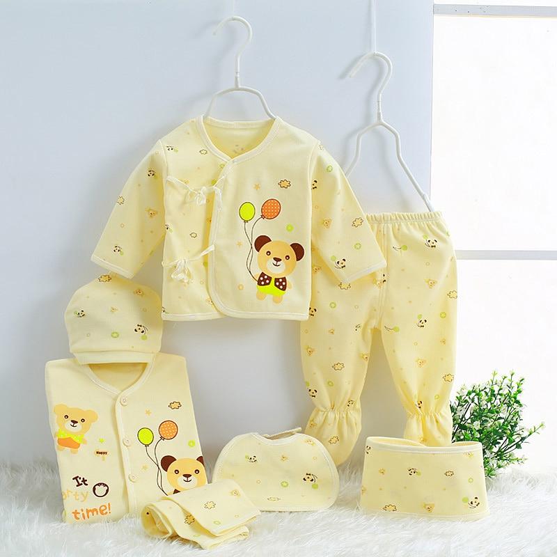 ¡2020 caliente! 7 unids/set 100% Material de algodón ropa de bebé recién nacido Kits completos para niños Material de algodón ropa de bebé niño niña recién nacido