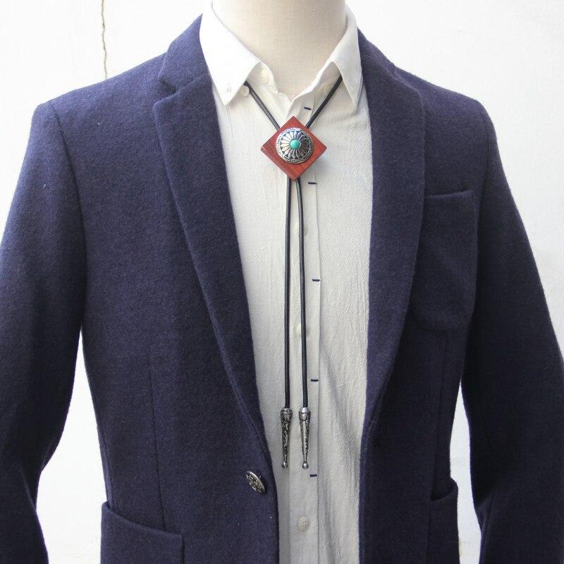 Original designer bolotie wooden alloy bolo tie for men personality neck tie fashion accessory