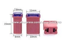 Fusible rectangulaire Micro M, 10 pièces pour voiture, Mini taille PEC, 15a, 20a, 25a, 30a, 40a, pour Ford Levin, Toyota, HYUNDAI, LINCOLN