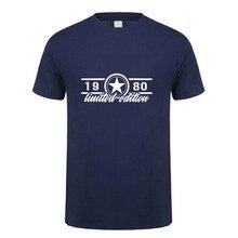 Summer New 1980 Limited Edition T Shirt Tops Men Cotton Short Sleeve 1980 Birthday Gift T-shirt Mans Tshirt OZ-269