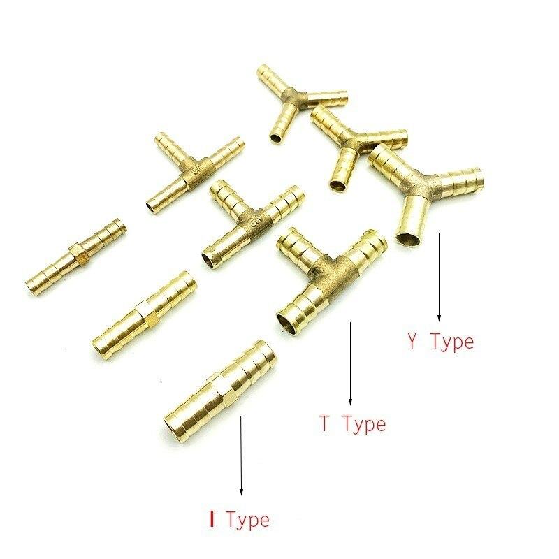 Envío Gratis, inserto rápido, tipo T, tubo de manguera de Gas de cuatro vías 6/8/10/12/16mm, junta de manguera de cobre FittingCopper Pagoda