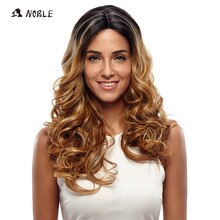 Perruques Lace synthétiques ondulées longues-Noble   Perruques pour femmes noires, perruque de Cosplay de 2 couleurs grise argentée de 24 pouces, livraison gratuite