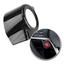 Car Engine Start Stop Push Button Ring Cover Trim for  Alfa Romeo Stelvio/Giulia Engine Button Replace Cover Case